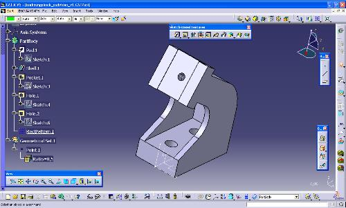 catia v5 – part design – dress up feature – shell