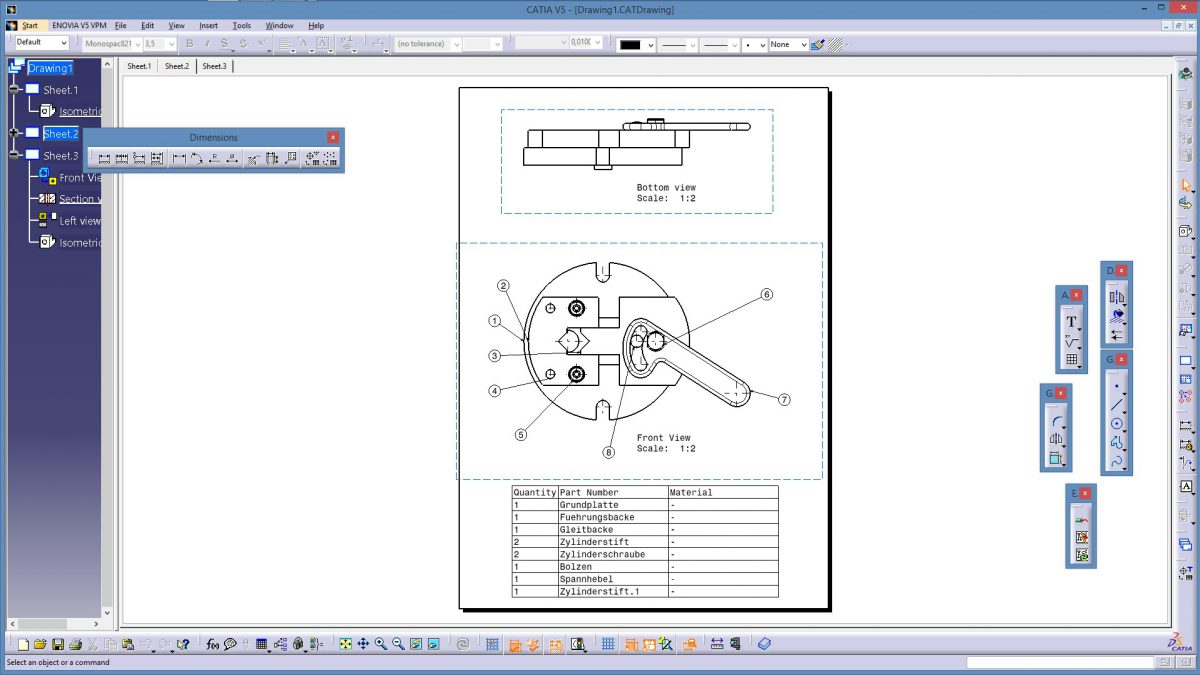 Catia V5 Drafting Advanced Bill Of Material Bom Mit