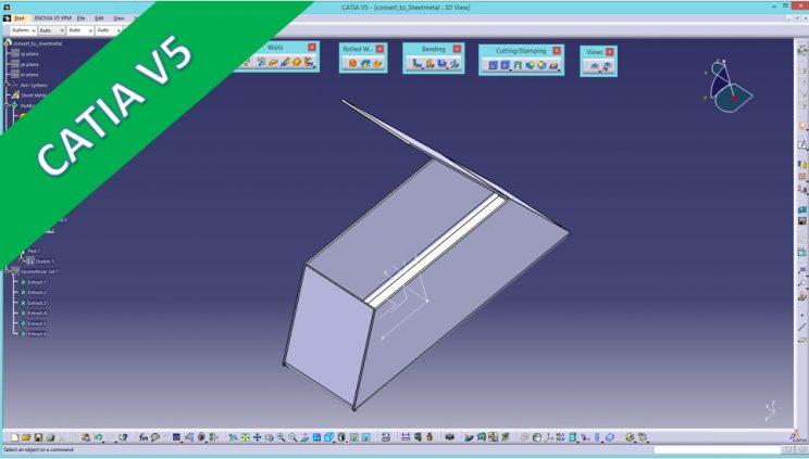 Generative Sheet Metal Design Catia V5 Zylinder Abwicklung