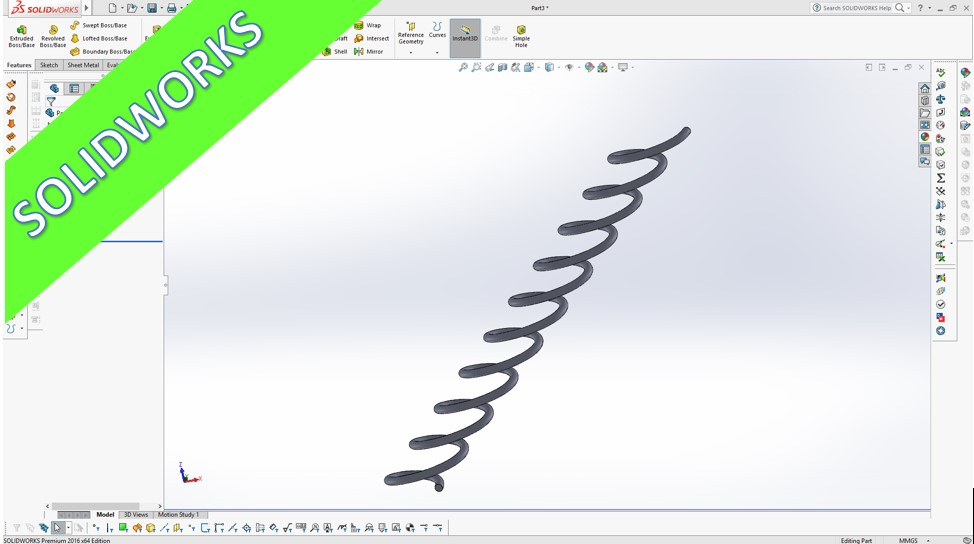 Videotutorial Solidworks 2016 Equation Driven Curve