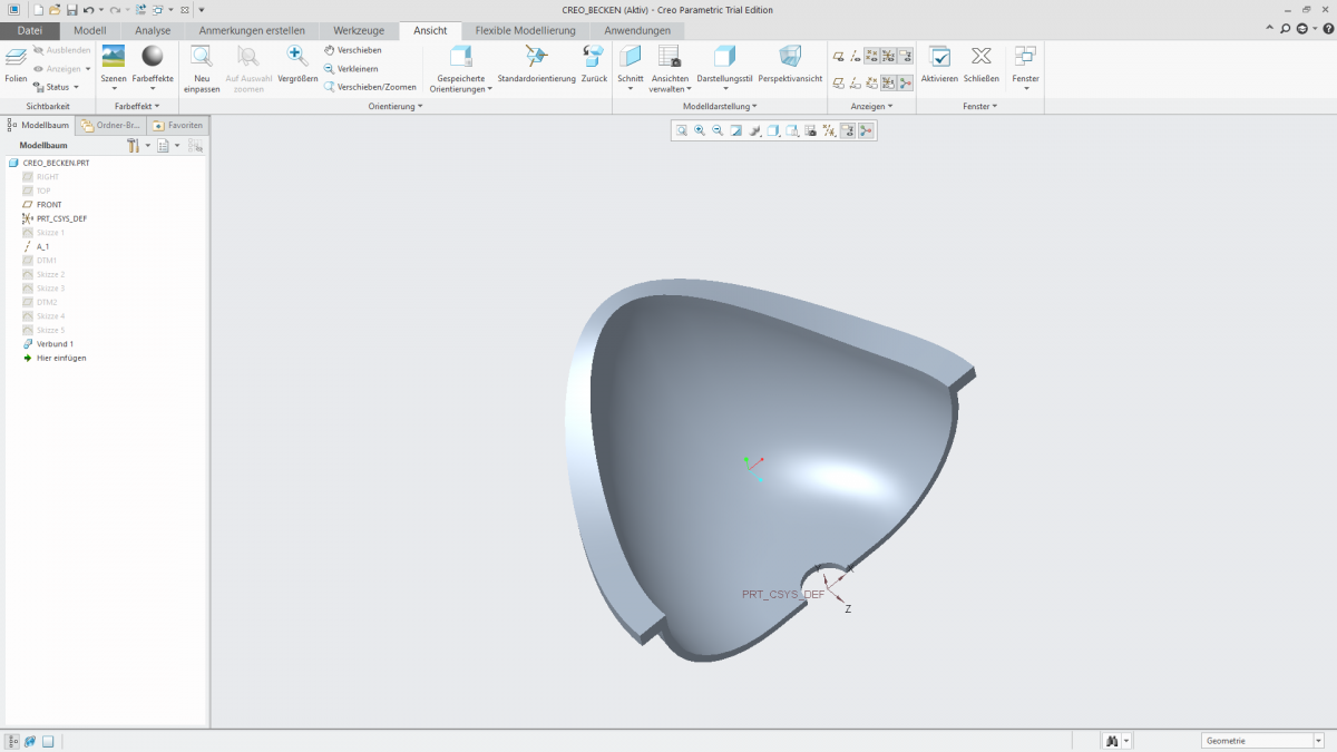 Videotutorial Creo 4 Parametric Basic Part Design 10