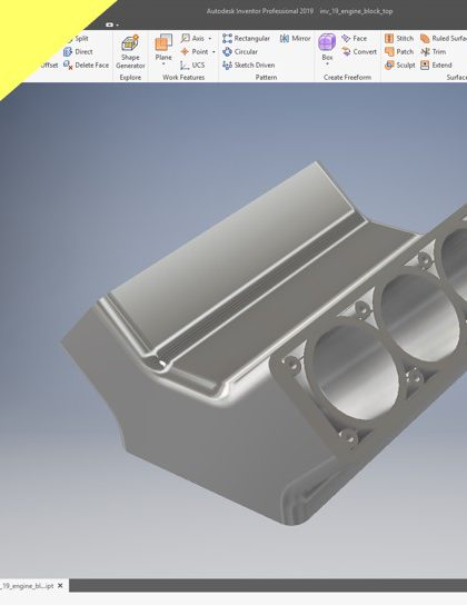 Videotutorial Catia V5 Part Design Engine Block Top