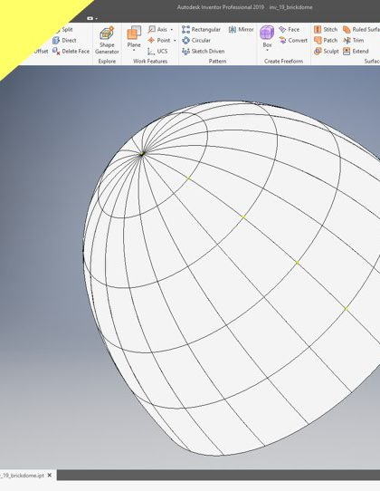 Videotutorial Fusion 360 Part Design Dome Made Of