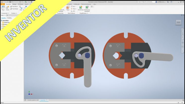 Videotutorial Inventor 2018 Assembly Geneva Drive